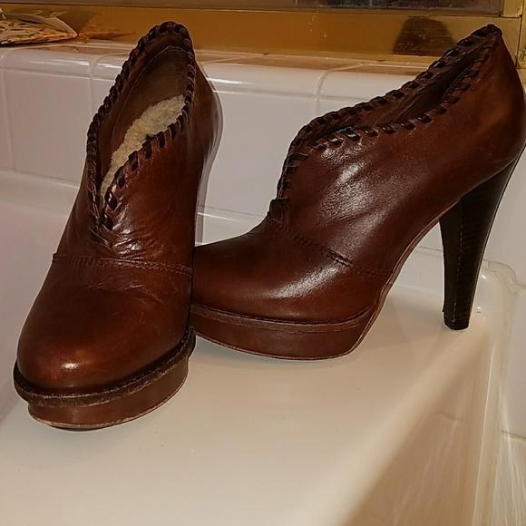 fc306db713d UGG Jamison Platform Heel Brown Leather Shearling